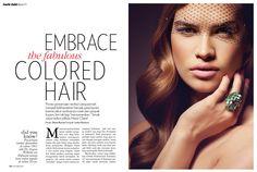 MARIE CLAIRE Beauty Fall 2013 Photo: Lenka Ulrichova Hair: JANINE JARMAN of Hairroin Salon