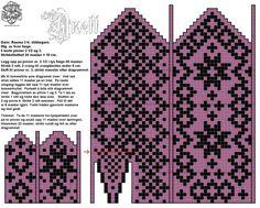Bilderesultater for mønsterstrikk Knitted Mittens Pattern, Fair Isle Knitting Patterns, Knit Mittens, Knitting Charts, Knitted Gloves, Knitting Socks, Knitting Stitches, Hand Knitting, Norwegian Knitting