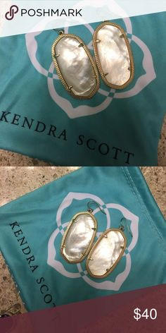 Kendra Scott Danielle Earrings in Ivory Pearl Perfect condition! Comes with Kendra Scott Jewelry bag! Kendra Scott Jewelry Earrings