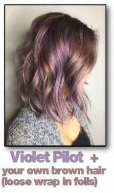 33 trendy ombre hair color ideas of 2019 - Hairstyles Trends Lavender Hair Highlights, Brown Hair With Blonde Highlights, Brown Ombre Hair, Short Brown Hair, Short Lavender Hair, Subtle Purple Hair, Dyed Hair Purple, Hair Color Purple, Burgundy Hair
