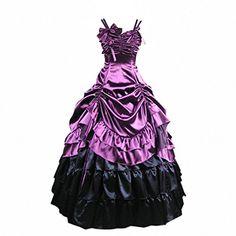 Partiss Damen ärmellose Kleid gotische viktorianische Lolita Ballkleid Ruffles Abendkleid(XS,Purple) Partiss http://www.amazon.de/dp/B00EC136KE/ref=cm_sw_r_pi_dp_aYPbwb1D5GMNG