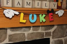 Mickey Name Banner Multi Colored by EmelleeGifts on Etsy, $10.00