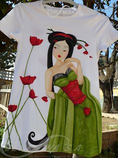 handpainted t-shirt