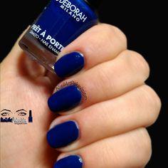 Swatch Nail Polish / Esmalte N°56 Royal Navy by @deborahmilano  #swatch #nailpolish #nailswow #uñas #unghie #unhas  #Esmaltes #Smalti #deborahmilano #blue #TagsForLikes #instalike #instanails #instacolor #instapic #instalove #picoftheday #notd #NailArt