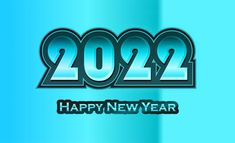 Free New Year Blue Background 2022