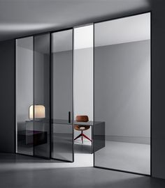 moderne innent r mit edelstahl t rgriff in hochglanz optik griffe pinterest t ren. Black Bedroom Furniture Sets. Home Design Ideas