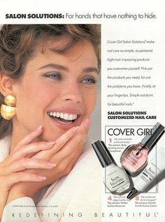 Vintage Cover Girl ad (1980s)Kim Alexis, I believe