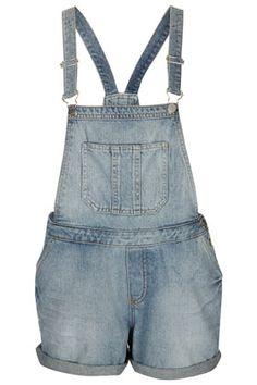 Salopette en jean décoloré MOTO - Combi-shorts