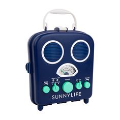 BEACH SOUNDS NAVY BLUE RADIO & SPEAKER– Water resistant and opens up to hold your phone  Bonjour Fête - boutique party supplies - Perfect for any trip to the  park or beach trip. Made by Sunnylife Australia and now back in stock!