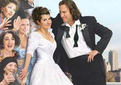 """Nia Vardalos e John Corbett em CASAMENTO GREGO (My Big Fat Greek Wedding). 1-""""O homem pode ser a cabeça da família, mas a mulher é o pescoço e ela gira a cabeça para onde ela quiser."""""""