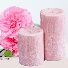 Create beautiful Palm Pillar Candles with sustainable palm wax and the lovely Ode De Rose Fragrance! Garden Candles, Homemade Candles, How To Make Homemade, Carnations, Candle Making, Fragrance Oil, Pillar Candles, Rose, Soaps