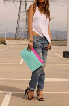 Refined Style love the jeans with the heels and painted toes!