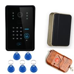 Wireless Video Door Phone Intercome WiFi DoorBell IR Camera RFID Touch Keypad Card Reader+Remote Control For Intercom System #Affiliate