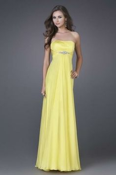 Yellow Chiffon Bridesmaid Dress http://www.weddingmarket.co.uk/special-order-items/bridesmaid-flower-girl-dresses/