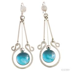 I have some similar to these, but mine have crystals instead of turquoise. Pretty!