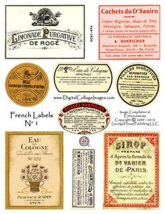French Labels #1  Price: $3.75 Manufacturer: Georgia House Publishing LLC Product ID: DCSI-654