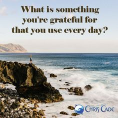 Daily Gratitude: My water bottle! - http://www.chriscade.com/free-resources/