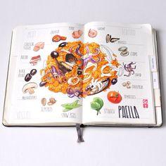 Paella ❤️#moleskine #copic #sketch #sketchbook