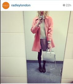 Fearne Cotton wearing the Radley Bloomsbury Barrel Bag in White