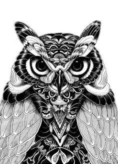 Zentangle Owl | Zentangle Owls