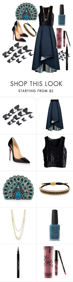 """Untitled #149"" by husnekara ❤ liked on Polyvore featuring Sachin + Babi, Christian Louboutin, Judith Leiber, Halcyon Days, Gorjana, Kester Black, Givenchy and Kylie Cosmetics"