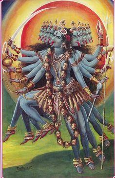 Kali la madre muerte, ella es la que nos libera de nuestros agregados psicologicos.