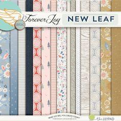 Digital Scrapbooking Kit - NEW LEAF Page Kit| ForeverJoy Designs