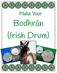 Irish Drum – Make and Play Your Own Bodhrán and Tipper – Find Your St Patrick's Day Activities Drum Lessons For Kids, Drums For Kids, Irish Musical Instruments, St Patrick's Day Music, Irish Drum, Celtic Crafts, Celtic Art, Drum Craft, Instrument Craft