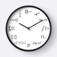 Yes, we have a Maths clock too! Perfect for your favourite geek. Yours at: https://www.redbubble.com/people/tudi/works/28956834-matem-ticas