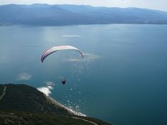 #Trichonida lake #Greece #paragliding