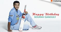 """Happy Birthday """"Sourav Ganguly""""(Dada)! Great leader and fine cricketer! Get best games for absolutely free: http://www.mobango.com/free-cricket-games/?track=Q1X2U514&sid=69&cid=1858294&frompage=search&type=special&track=Q148X1749"""