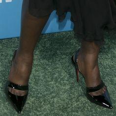 1c4d0d8cc52 Lupita Nyong o s toe cleavage black patent