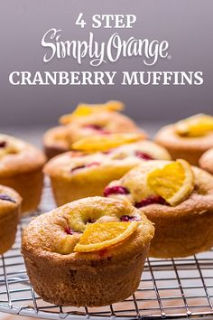 Fill your kitchen with the heavenly scent of Simply Orange® Cranberry Muffins. The fresh-squeezed taste of Simply Orange® will make these muffins a holiday standout. And with only 4 steps, it's easy to make any time!