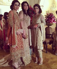 Not 1 but 3 outfits for a wedding Pakistani Formal Dresses, Nikkah Dress, Pakistani Outfits, Indian Dresses, Indian Outfits, Pakistani Couture, Pakistani Bridal, Pakistani Mehndi, Indian Bridal