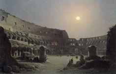 Ippolito Caffi (1809-1866), Night View of Colosseum.