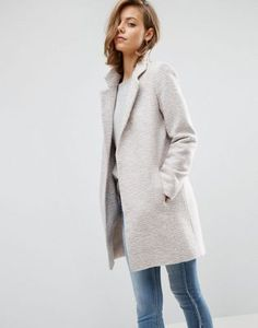 ASOS Slim Coat In Texture
