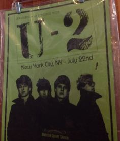 U2 madison square garden poster 121/300 july 22 2015