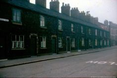 MFZ/203 Colour photographic transparency showing terraced houses at Crossley Road, St.Helens.c.1950-1960. . . . MFZ - Fazackerley Collection