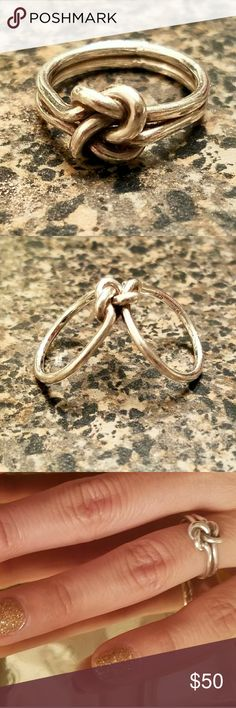 Double Love Knot Ring A romantic sterling silver double knot ring with no end a no beginning. Jewelry Rings