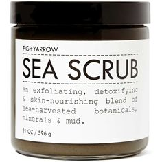 Fig + Yarrow Sea Scrub (£24) ❤ liked on Polyvore featuring beauty products, bath & body products, body cleansers, beauty, fillers, makeup, cosmetics and green