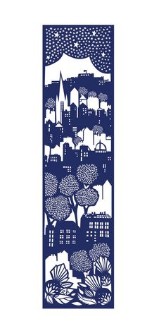 Edinburgh screen print, Emily Hogarth I like the vertical build up of space here.
