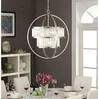 Shop for Brushed Nickel Crystal Orb Chandelier. Get free delivery at Overstock - Your Online Ceiling Lighting Store! Get in rewards with Club O! Brushed Nickel Chandelier, Kitchen Chandelier, Lantern Chandelier, Candelabra Bulbs, Chandelier Lighting, Chandelier Centerpiece, Entry Chandelier, Wheel Chandelier, Houses