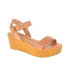 Grand Prize Leather Ramp Wedge Sandal Hazelnut