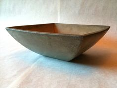 Minimalist  Concrete Bowl  Gray  Taper by BungalowStreet on Etsy, $89.00
