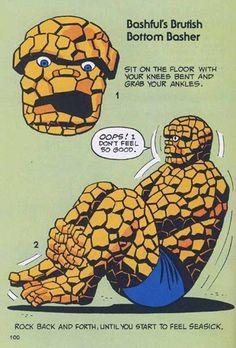 10 Bizarre Vintage Marvel Heroes Teaching Callisthenics