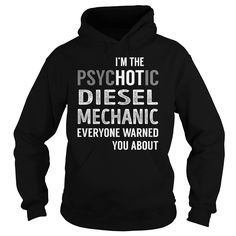 PsycHOTic Diesel Mechanic Job Title TShirt