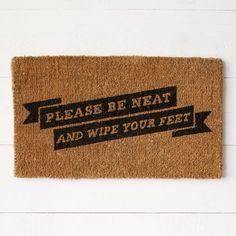 Please Be Neat Coir Doormat | west elm