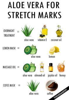 Skincare Tips for Beautiful Skin - Stretch Marks After Baby - # for . Skin care tips for beautiful skin – stretch marks after baby – – skin care – # Beauty Tips For Face, Beauty Skin, Beauty Hacks, Beauty Care, Aloe Vera Stretch Marks, How To Get Rid Of Stretch Marks, Stretch Mark Remedies, Stretch Mark Removal, Aloe Vera Vitamin