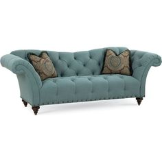 Ella Sofa ❤ liked on Polyvore featuring home, furniture, sofas, nail head sofa, nailhead couch, nailhead furniture, tufted sofa and tufted furniture