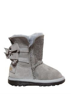 MISS GRANT QUILTED NYLON SNOW BOOTS WITH LAPIN FUR